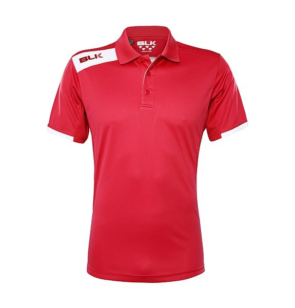 BLK Womens Tek Polo Red